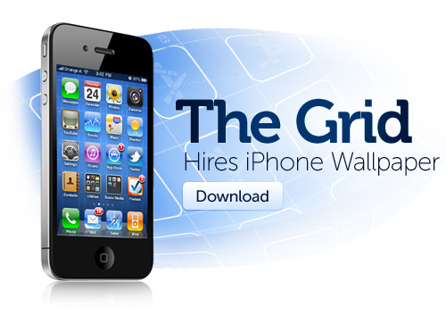 Download the Grid Wallpaper for iOS 4
